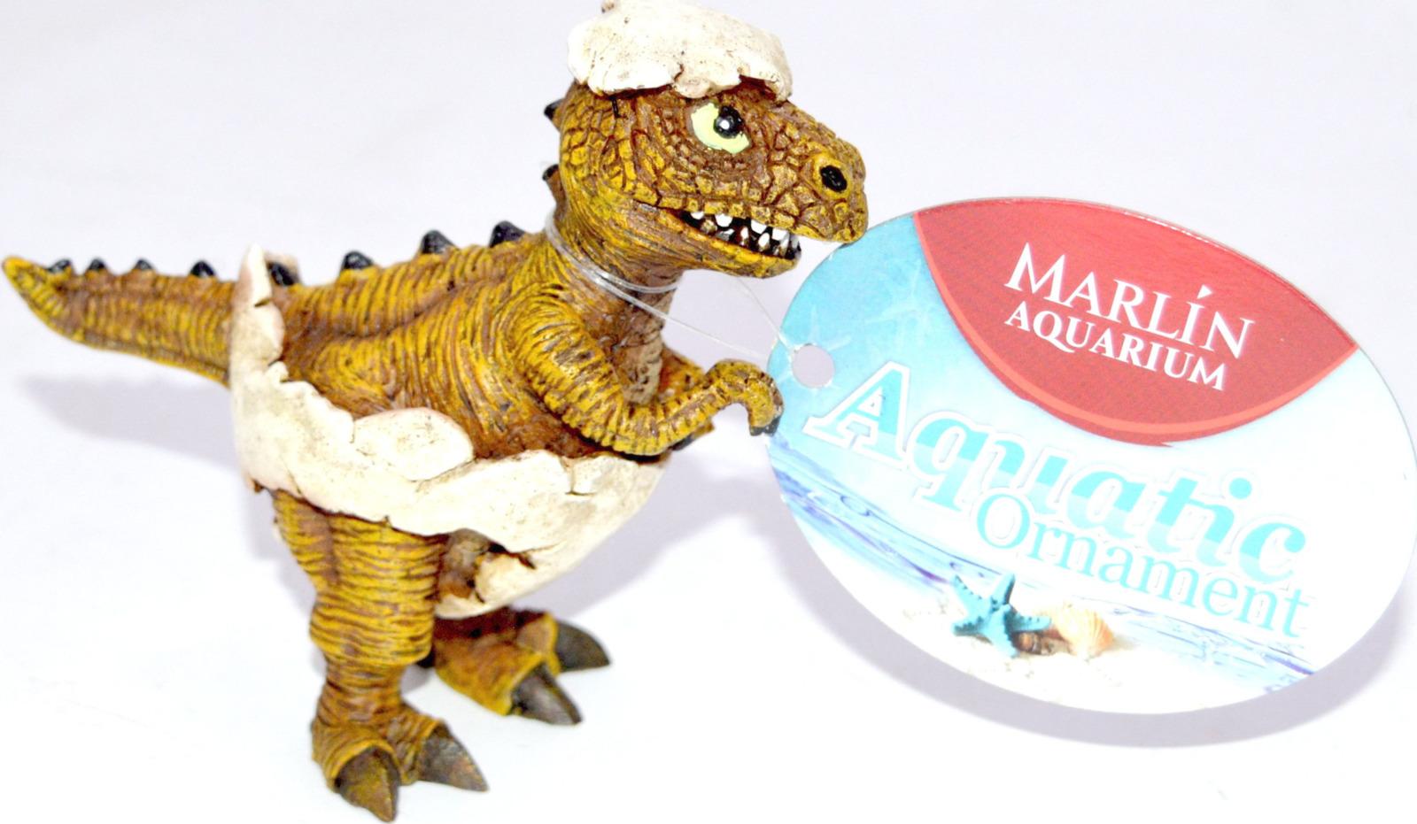 Декорация для аквариума Meijing Aquarium Динозаврик в яйце, MJA-094, коричневый, 11 х 5 х 11 см Meijing Aquarium