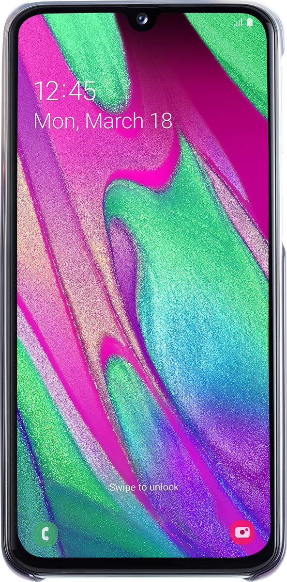 Чехол-накладка Samsung Gradation Cover для Samsung Galaxy A40, черный