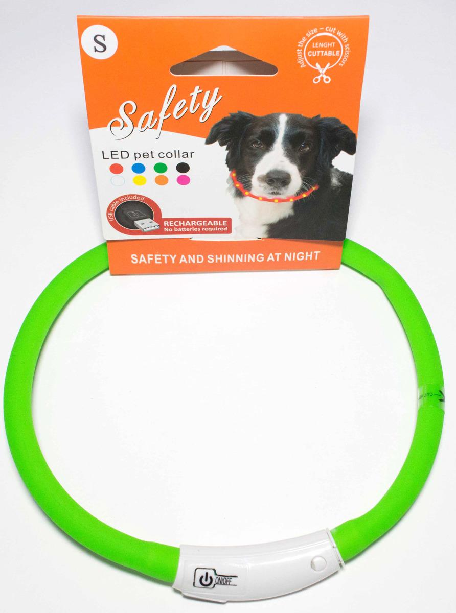 Ошейник для собак Meijing Aquarium, светящийся, с USB-зарядкой, JPF-008UL-green, зеленый недорого