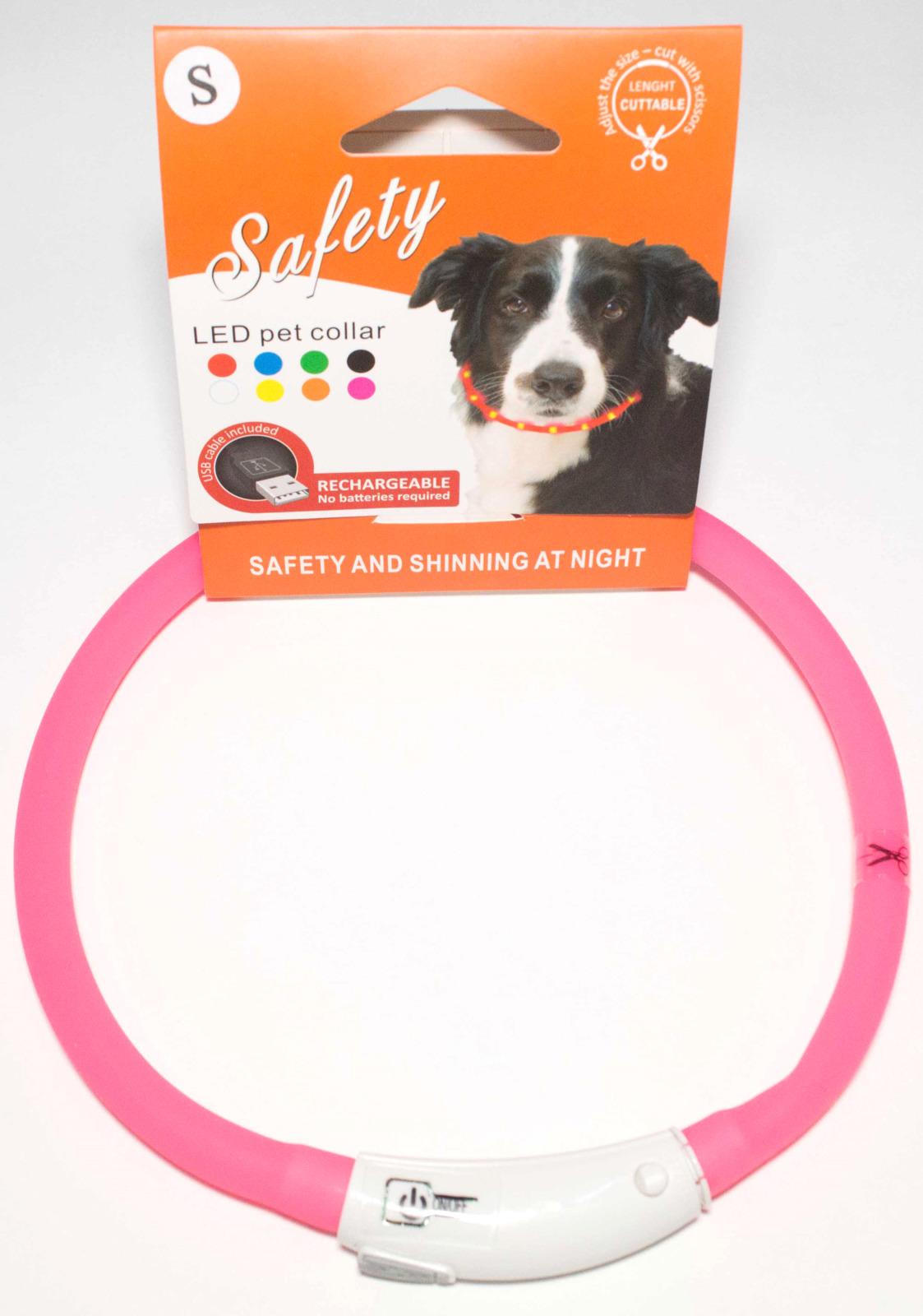 Ошейник для собак Meijing Aquarium, светящийся, с USB-зарядкой, JPF-008UL-pink, розовый недорого