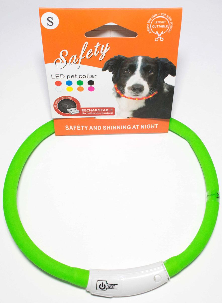Ошейник для собак Meijing Aquarium, светящийся, с USB-зарядкой, JPF-008UM-green, зеленый недорого