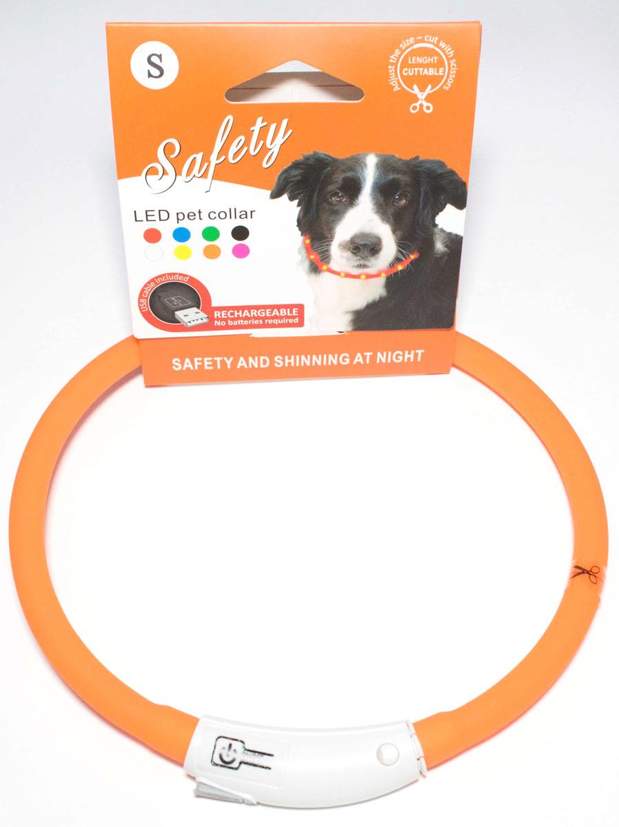 Ошейник для собак Meijing Aquarium, светящийся, с USB-зарядкой, JPF-008UM-orange, оранжевый недорого