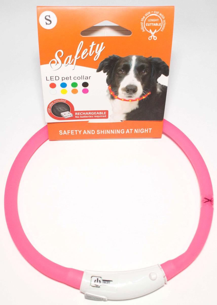 Ошейник для собак Meijing Aquarium, светящийся, с USB-зарядкой, JPF-008UM-pink, розовый недорого