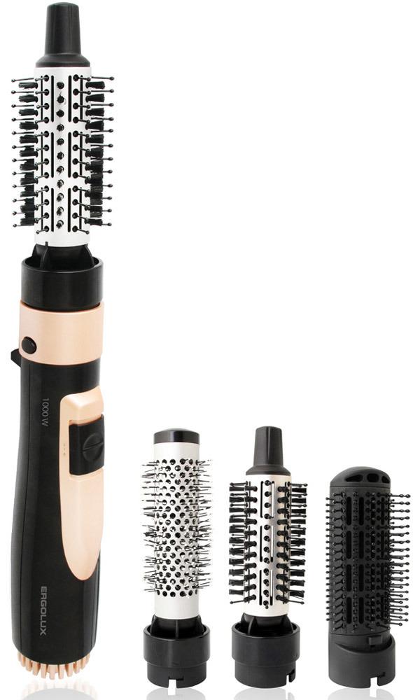лучшая цена Фен-щетка для волос Ergolux 13134, черный