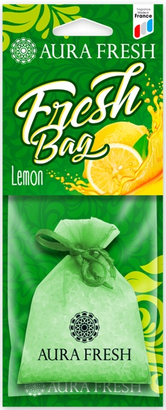 Ароматизатор автомобильный Aura Fresh Fresh Bag, Lemon ароматизатор dr marcus fresh bag black