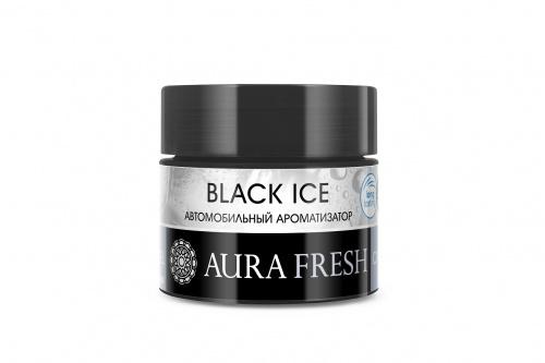 Ароматизатор автомобильный Aura Fresh Car Gel, Black Ice, на панель ароматизатор гелевый