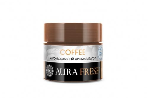 Фото - Ароматизатор автомобильный Aura Fresh Car Gel, Coffee, на панель авто