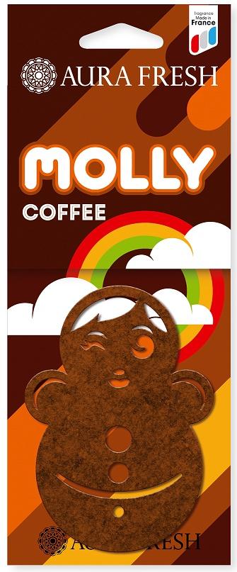 Ароматизатор автомобильный Aura Fresh Molly, Coffee ароматизатор воздуха для дома