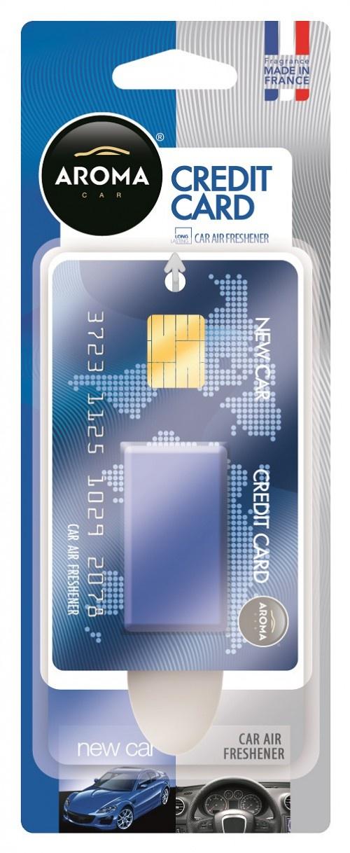 Ароматизатор автомобильный Aroma Car Credit Card, New Car автомобильный ароматизатор golden snail aroma football ванильный крем