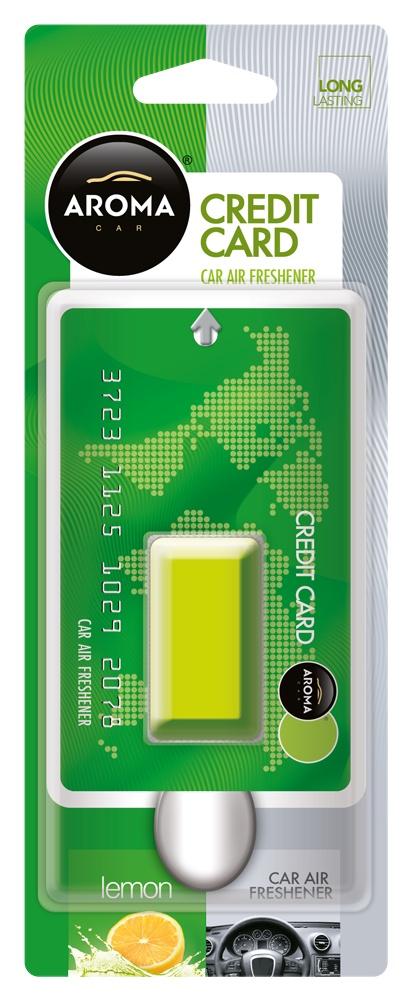 Ароматизатор автомобильный Aroma Car Credit Card, Lemon автомобильный ароматизатор golden snail aroma football ванильный крем