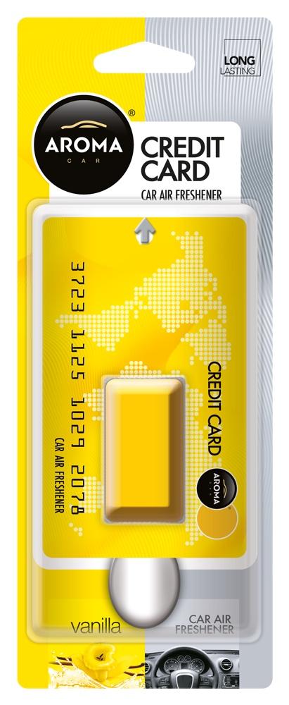 Ароматизатор автомобильный Aroma Car Credit Card, Vanilla автомобильный ароматизатор golden snail aroma football ванильный крем