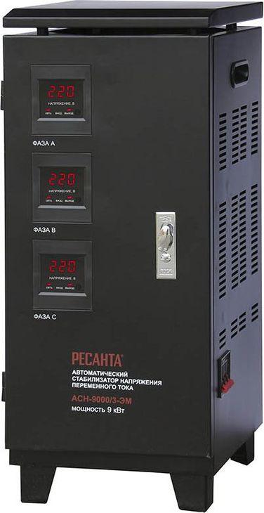 Стабилизатор напряжения Ресанта АСН-9000/3, черный Ресанта
