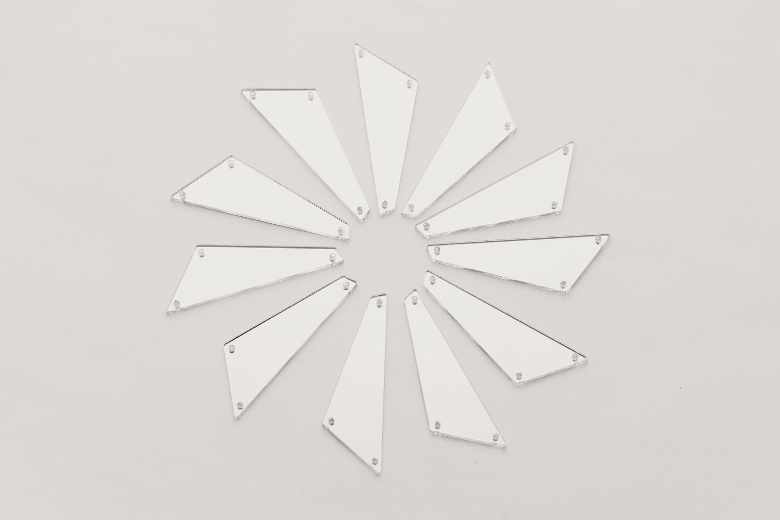 CASP Lase ЧЕТУГ5017 Комплект акриловых пришивных зеркал/страз Четырехугольник 50х17
