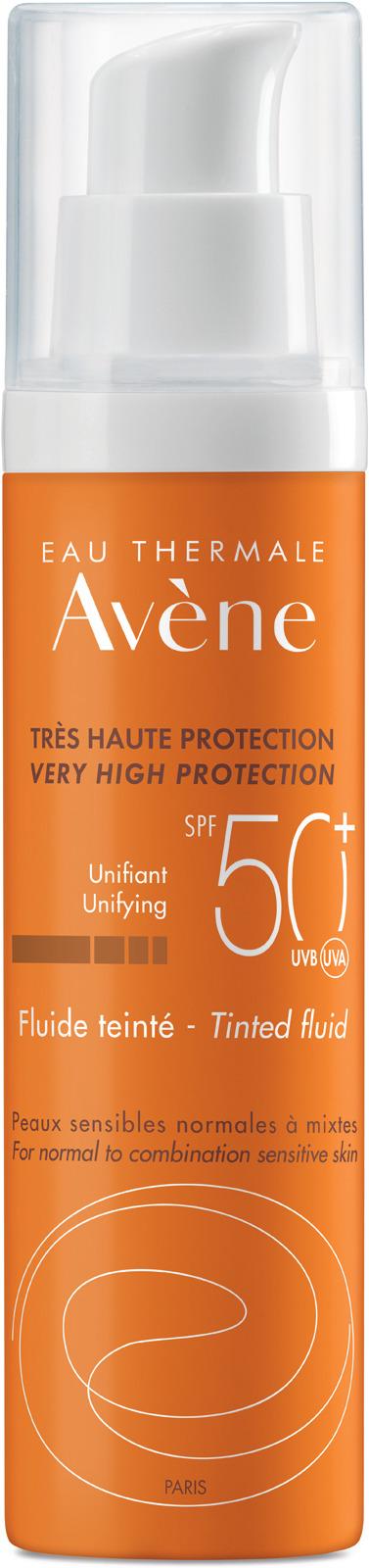 Солнцезащитный флюид Avene, тонирующий, SPF 50+, 50 мл крем от загара avene 50