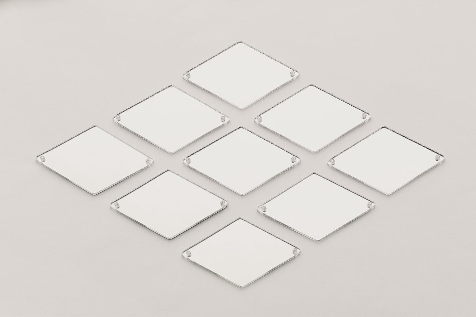 CASP Lase РОМБ4326 Комплект акриловых пришивных зеркал/страз  43х26