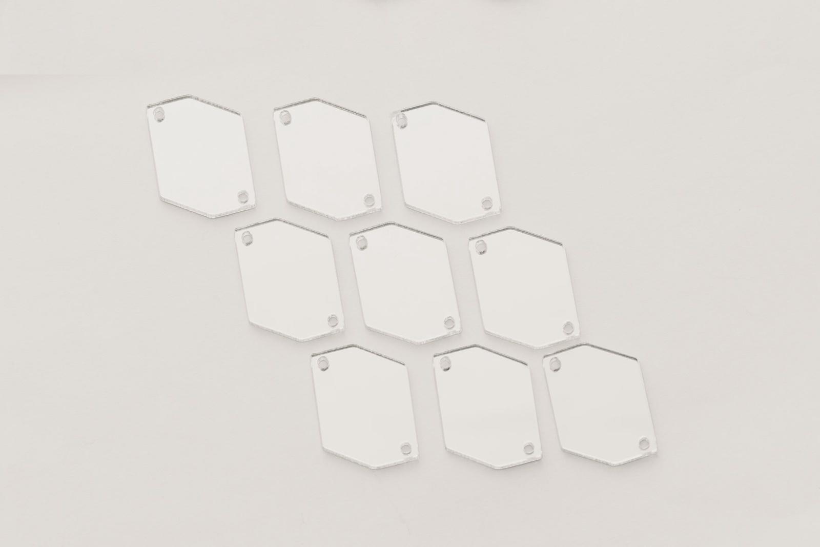 CASP Lase ШЕСТ2520 Комплект акриловых пришивных зеркал/страз Шестиугольник 25х20