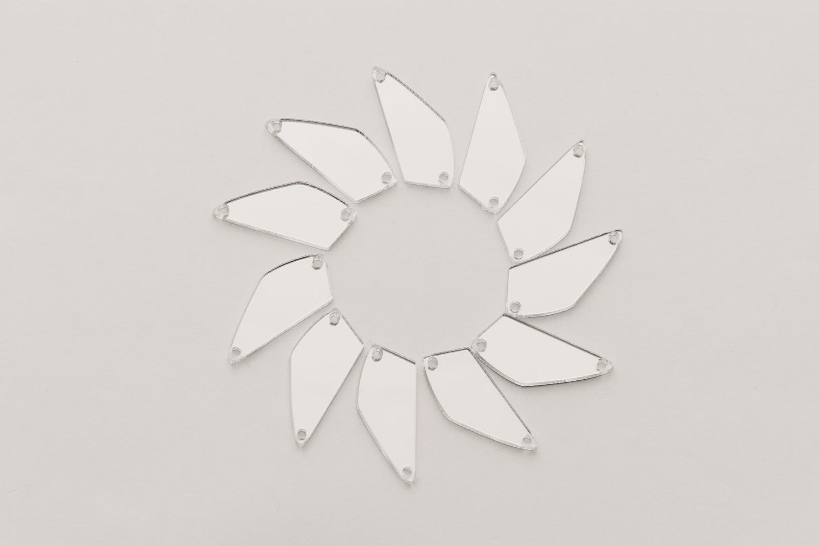 CASP Lase ДОЛ2310 Комплект акриловых пришивных зеркал/страз Долька 23х10