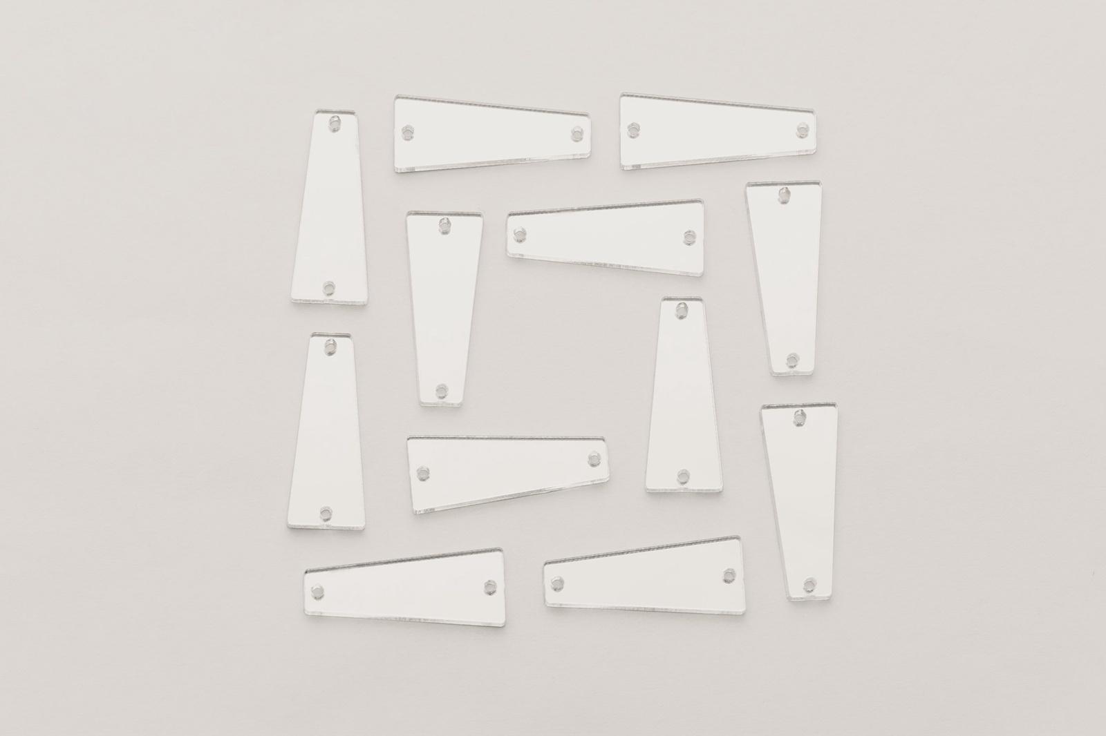 CASP Lase ТРАП2711 Комплект акриловых пришивных зеркал/страз Трапеция 27х11