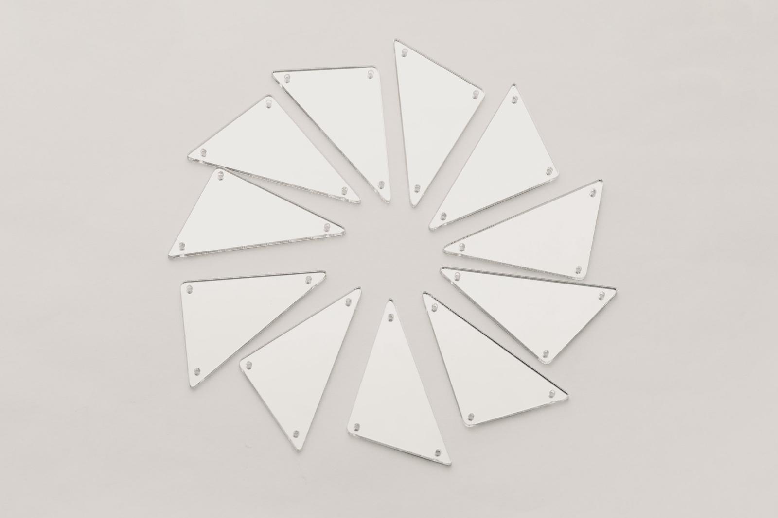 CASP Lase ТРЕ3025 Комплект акриловых пришивных зеркал/страз Треугольник 30х25
