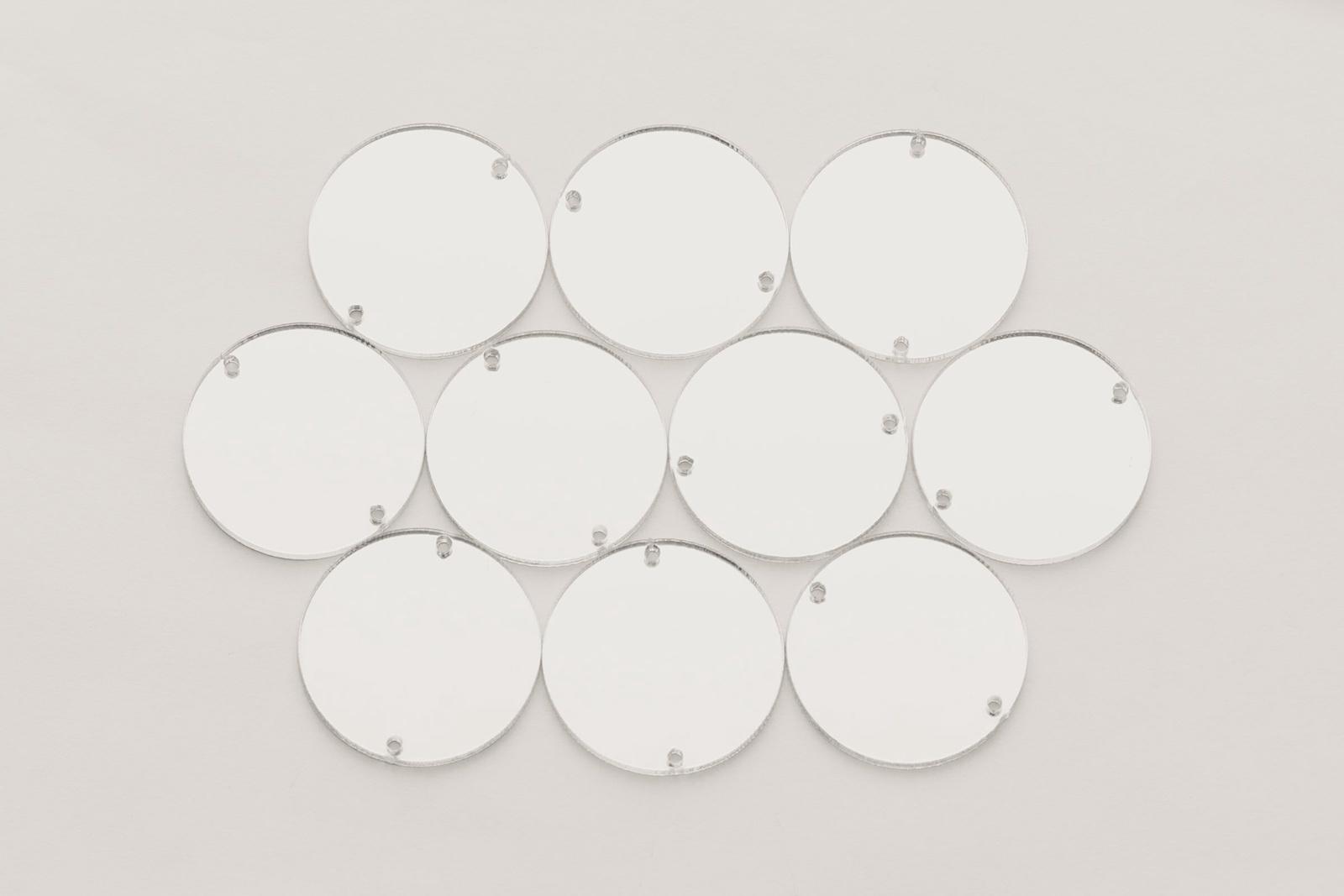 CASP Lase КР25 Комплект акриловых пришивных зеркал/страз Круг