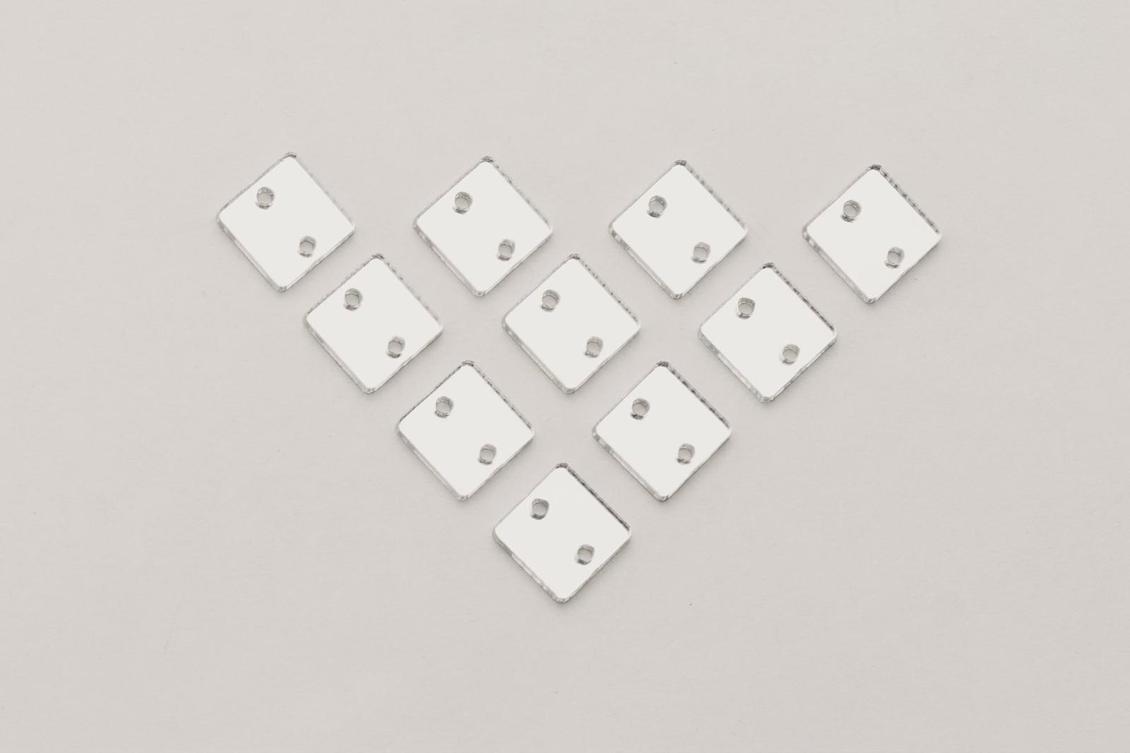 CASP Lase КВ10 Комплект акриловых пришивных зеркал/страз Квадрат