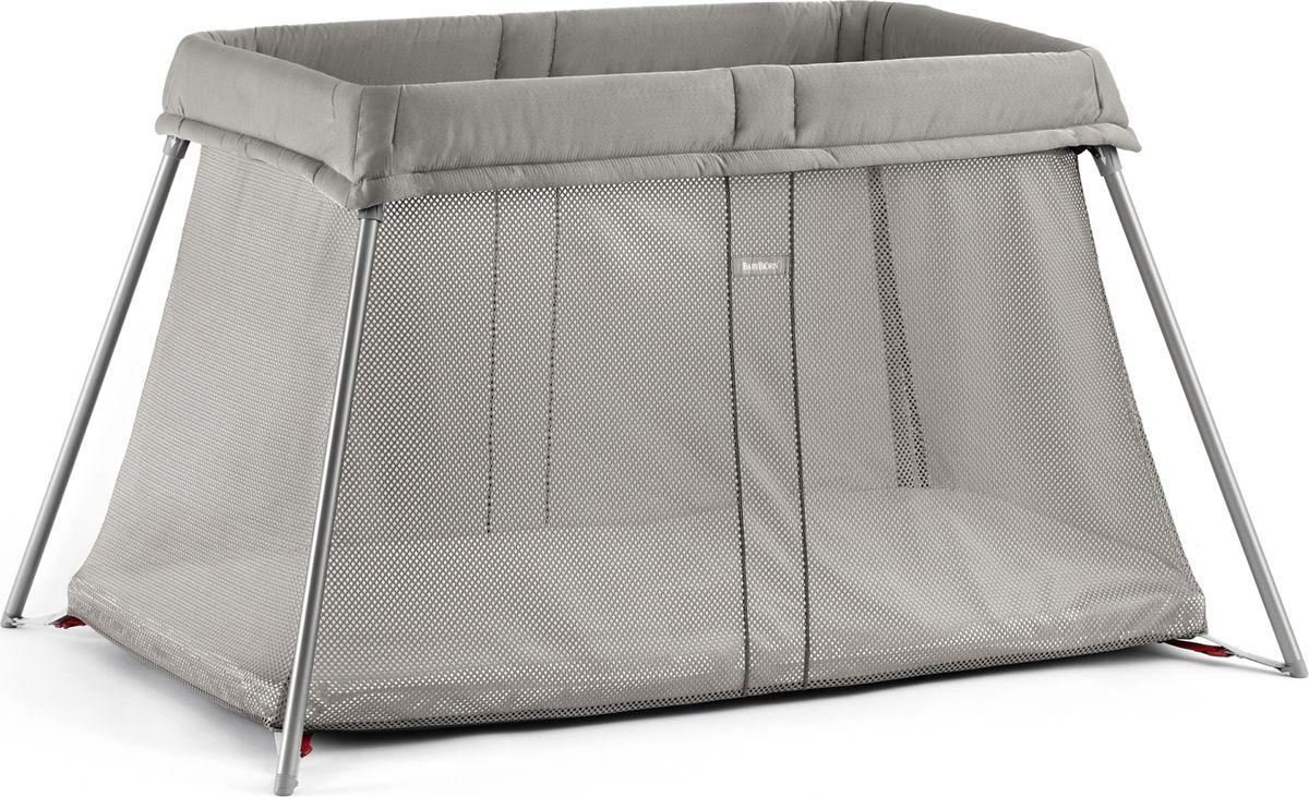 Манеж-кроватка BabyBjorn Для путешествий Airy Mesh, складной, серо-бежевый манеж i