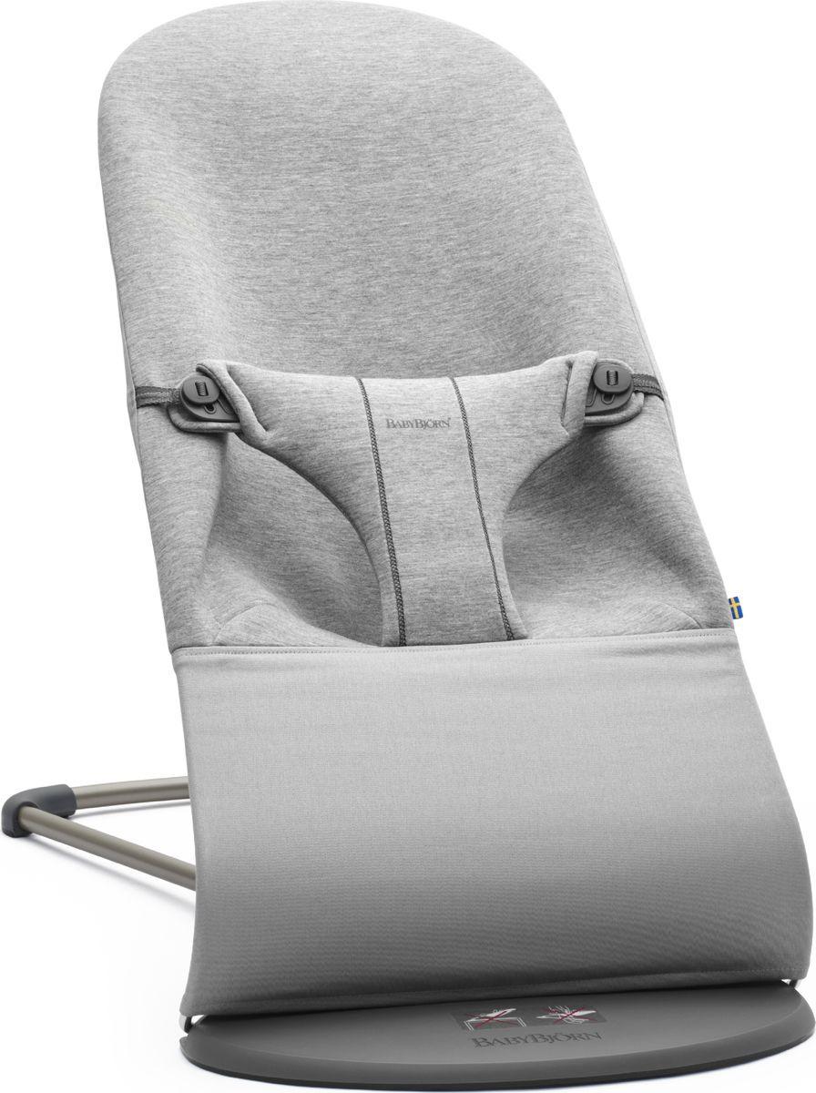 цена на Шезлонг детский BabyBjorn Bouncer Baiance Soft Bliss Jersey, светло-серый