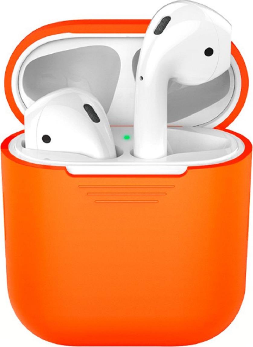 Чехол для наушников Deppa для Apple AirPods, оранжевый стилус для планшета deppa ручка duo оранжевый 11509