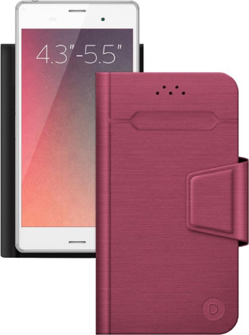 """Чехол-книжка Deppa WalletFold универсальный для смартфонов 4.3-5.5"""" , красный"""