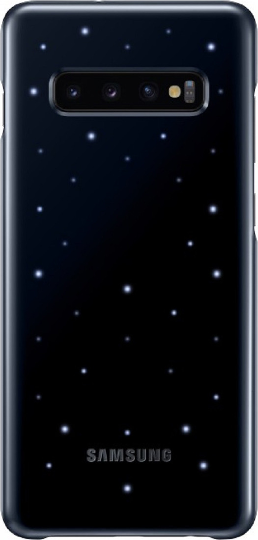 Чехол-накладка Samsung LED-Cover для Samsung Galaxy S10+, черный