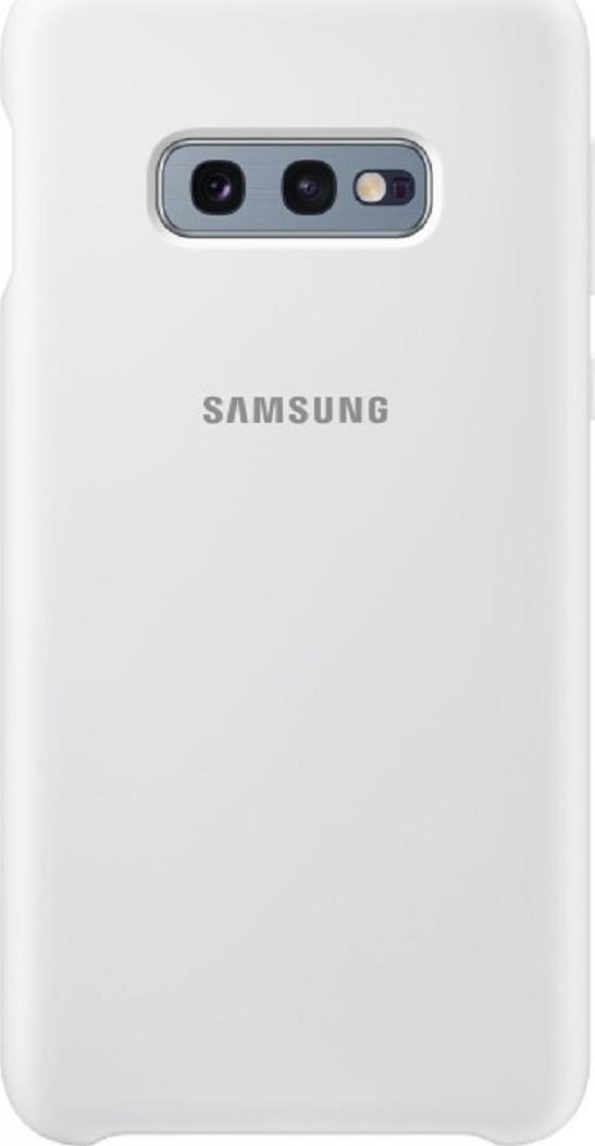 Чехол-накладка Samsung Silicone Cover для Samsung Galaxy S10e, белый