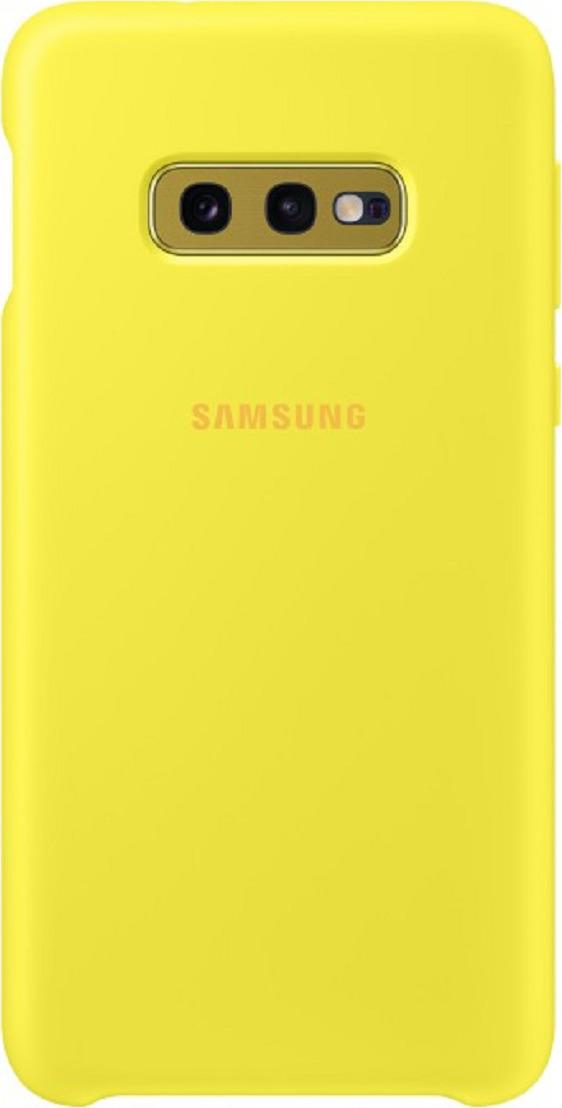 Чехол-накладка Samsung Silicone Cover для Samsung Galaxy S10e, желтый
