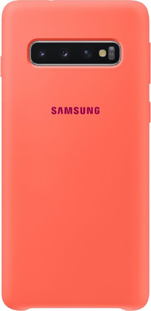 Чехол-накладка Samsung Silicone Cover для Samsung Galaxy S10, розовый
