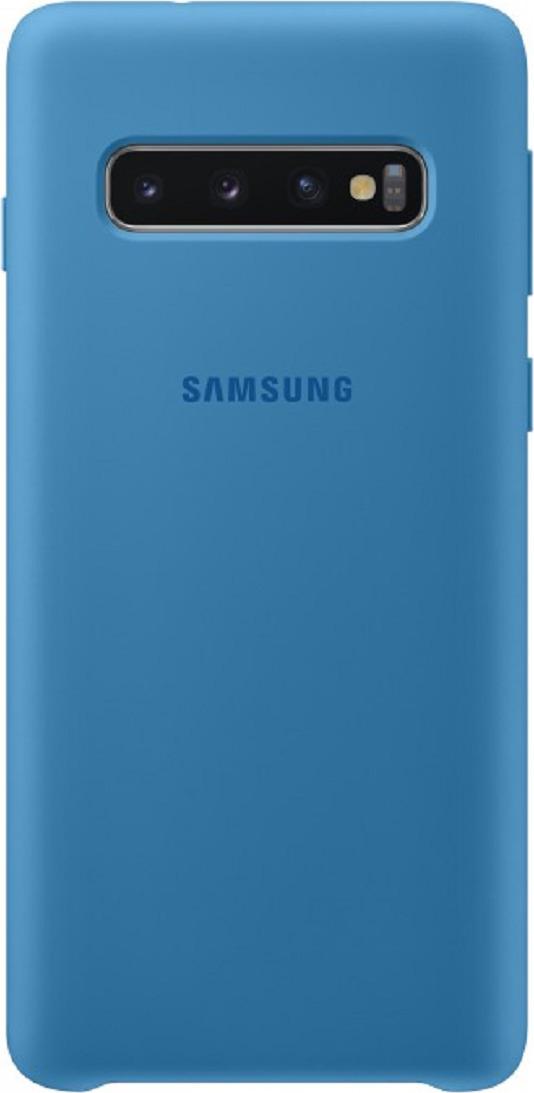 Чехол-накладка Samsung Silicone Cover для Samsung Galaxy S10, голубой