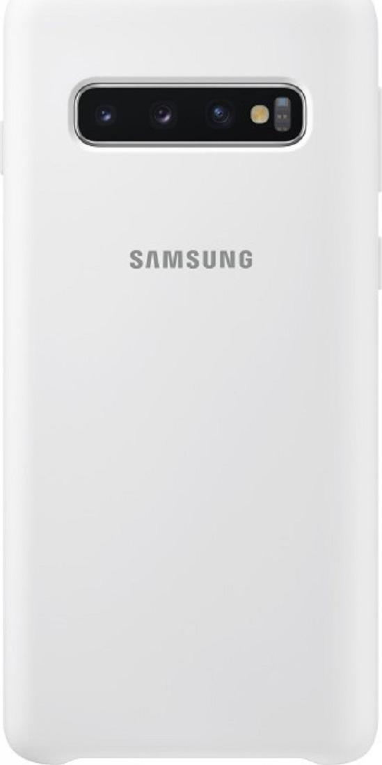 Чехол-накладка Samsung Silicone Cover для Samsung Galaxy S10, белый