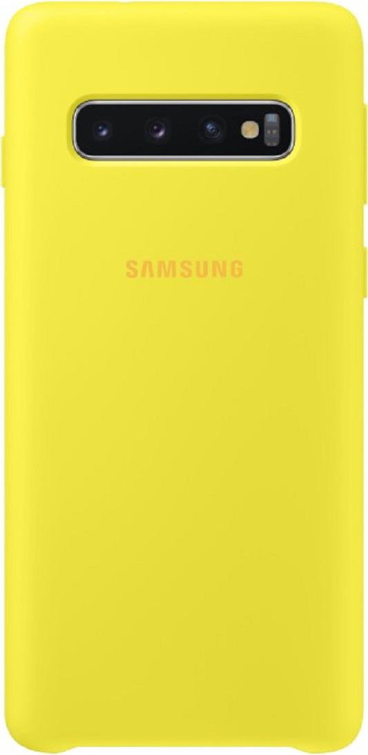 Чехол-накладка Samsung Silicone Cover для Samsung Galaxy S10, желтый