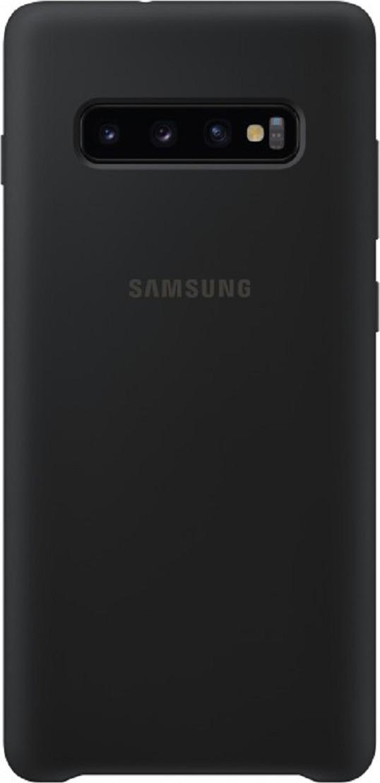 Чехол-накладка Samsung Silicone Cover для Samsung Galaxy S10+, черный