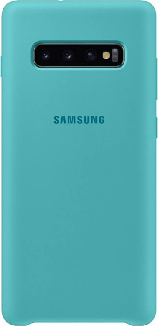 Чехол-накладка Samsung Silicone Cover для Samsung Galaxy S10, зеленый