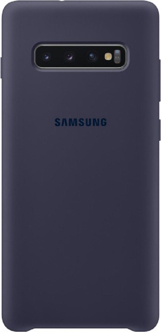 Чехол-накладка Samsung Silicone Cover для Samsung Galaxy S10, синий