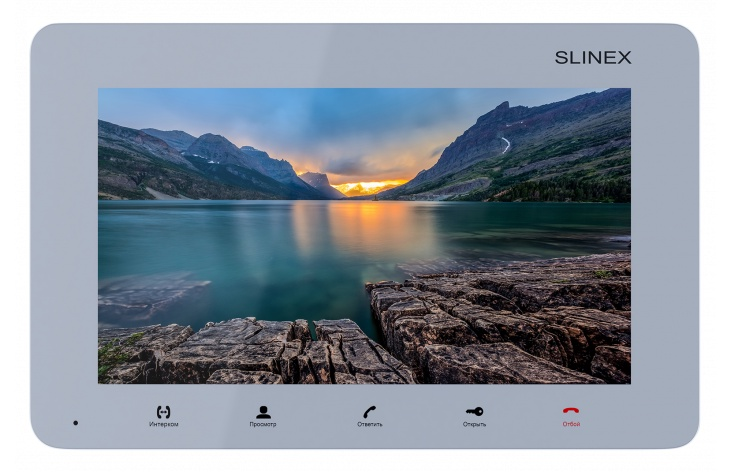 Видеодомофон Slinex Монитор видеодомофона SM-07M Silver, серый