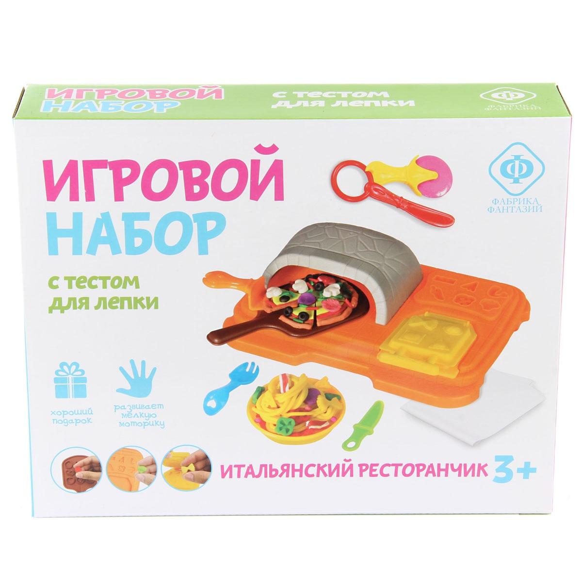 Масса для лепки Фабрика Фантазий 70828 Изучите с ребенком весь путь изготовления пиццы с помощью набора....