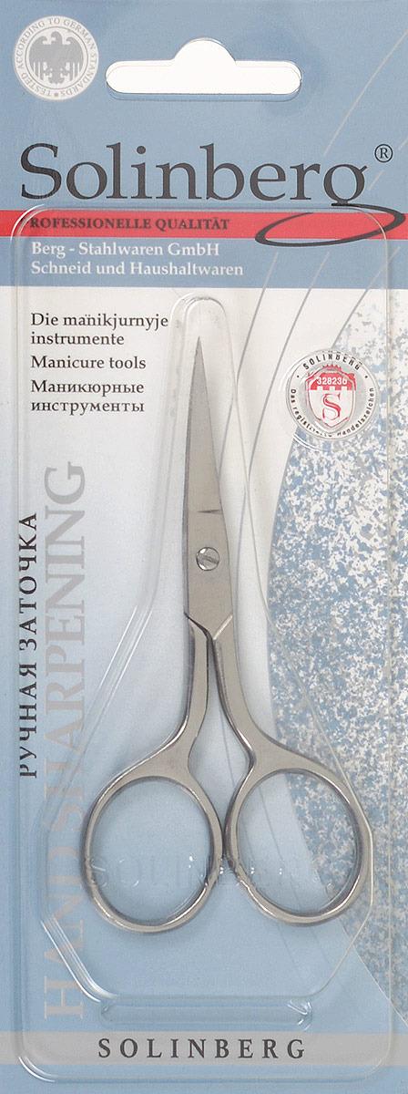 Ножницы маникюрные Solinberg 031з Classic Line (ручная заточка), ногтевые, серебристые, лезвия 32 мм терка для ног деревянная основа двухсторонняя solinberg ширина 60 мм