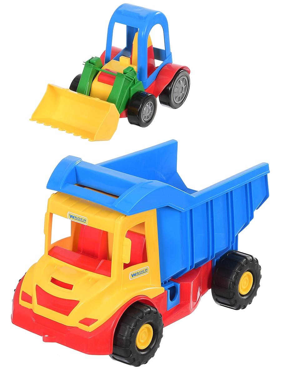 Спецтехника Wader Грузовик Multi Truck красный, синий, желтый грузовик pilsan moving truck 06 602 красный