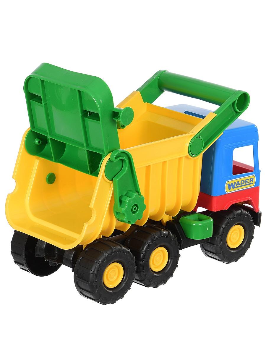Фото - Спецтехника Wader Middle truck самосвал зеленый, синий бетономешалка wader super truck разноцветный 58 5 см 36590