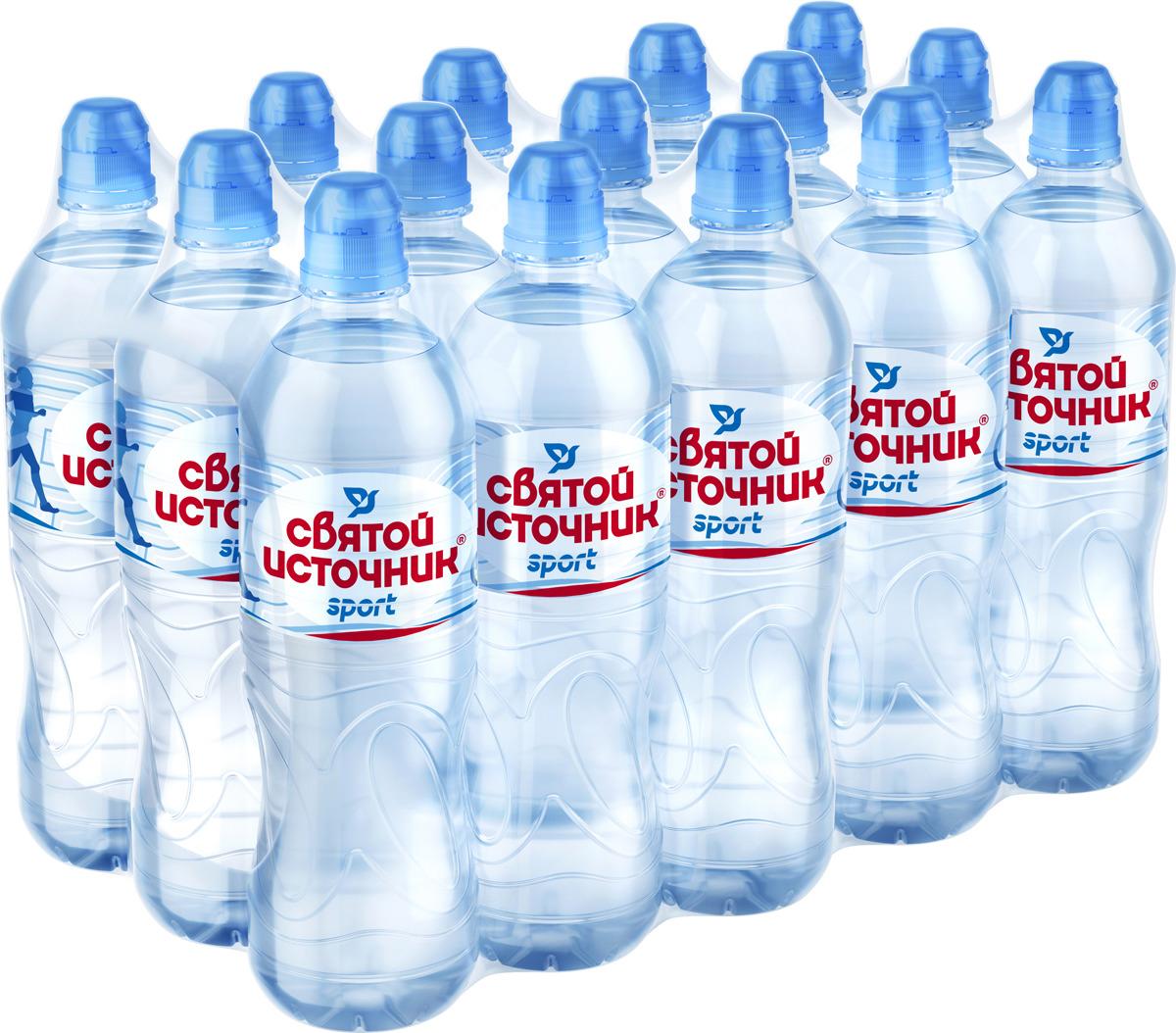 СвятойИсточник вода Спортприродная питьевая негазированная, 15 шт по 0,75 л