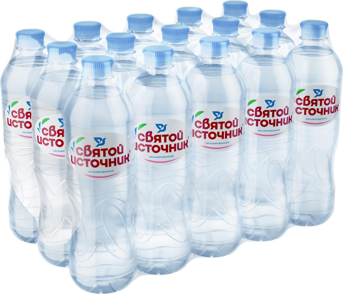 СвятойИсточник вода природная питьевая негазированная, 15 штук по 0,75 л