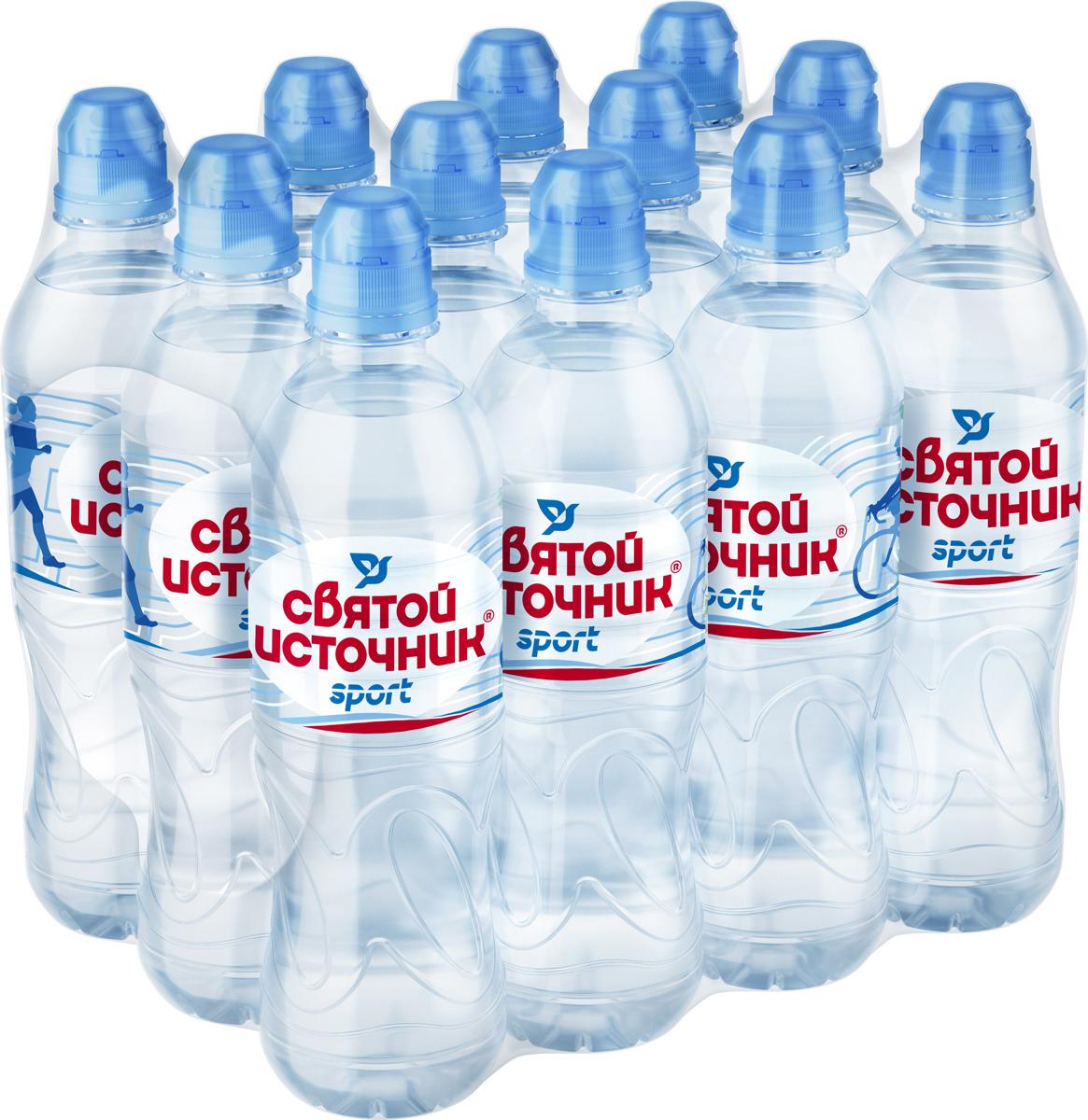 СвятойИсточник вода Спортприродная питьевая негазированная, 12 шт по 0,5 л