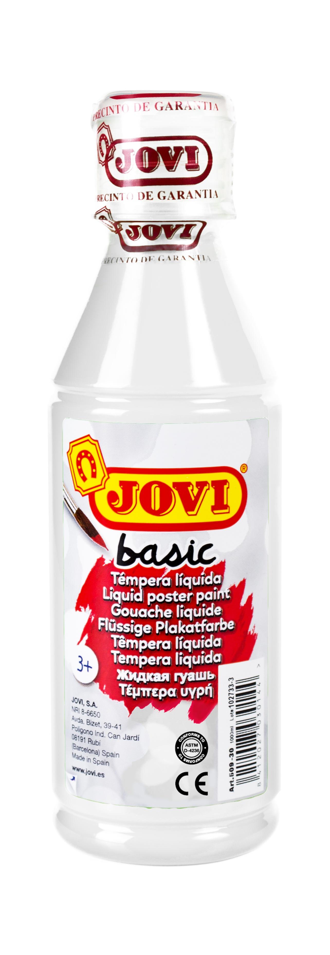 Гуашь JOVI школьная белая 250 мл в пластиковой бутылке