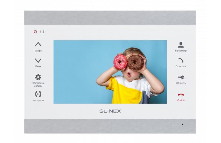Видеодомофон Slinex Монитор видеодомофона SL-07M, Silver White, белый, серебристый видеодомофон slinex sl 10ip silver white