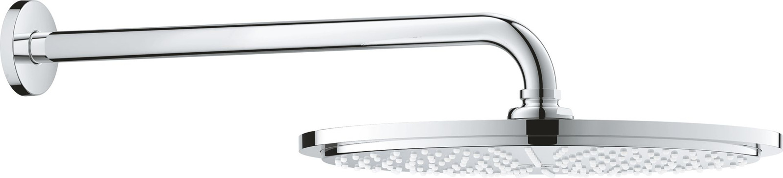все цены на Душевой комплект Grohe Rainshower Верхний душ, 31 см + Душевой кронштейн, 26066000, серебристый онлайн